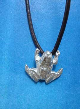 colgante rana de plata collar