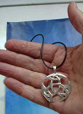 collar triqueta celta amuleto de plata