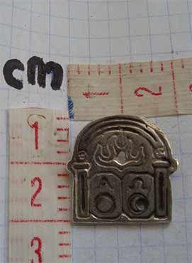 colgante alpha omega, dimensiones cms