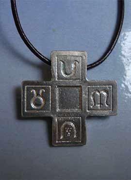 colgante cruz griega 4 estaciones