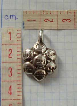 colgante talismán 7 arcangeles plata
