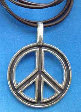 amuleto hippie paz y amor símbolo colgante