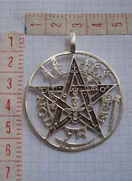 collar del tetragrammaton de plata medidas