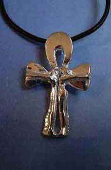 colgante cruz egipcia anj ankh amantes amuleto de amor