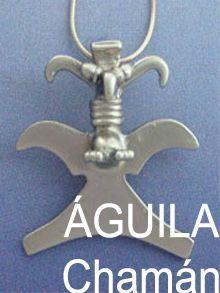 águila chamán, colgante plata cultura precolombina
