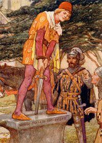 El rey Arturo leyenda de como saca la espada de la roca