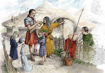 Celtas comunicándose con un soldado