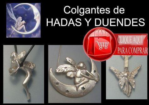 hadas y duendes colgantes de plata