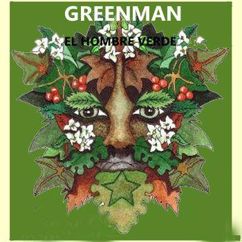 símbolos celtas: GREENMAN, el hombre verde