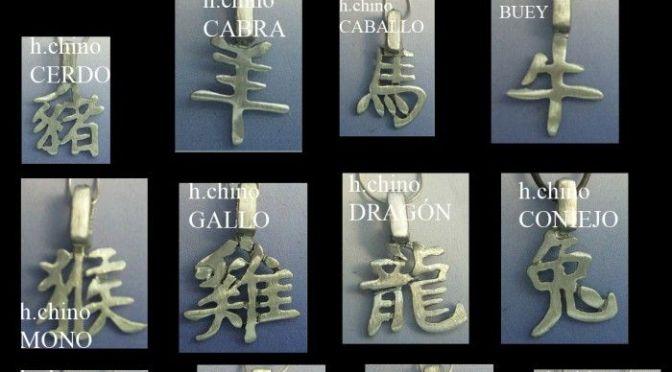 colgantes zodiaco chino del horócopo chino
