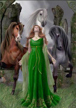 Rhiannon y Pwyll leyenda de la diosa celta