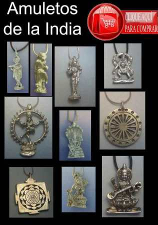 Amuletos de la India. colgantes de plata