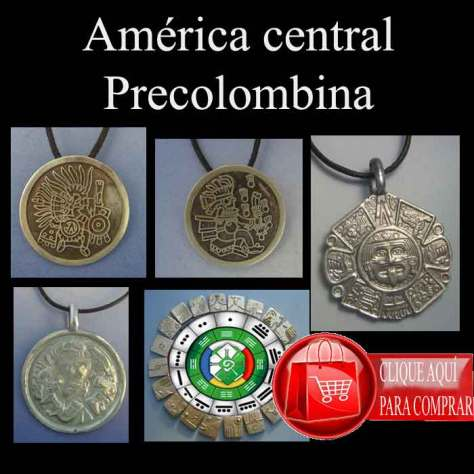 America central precolombina, símbolos y colgantes