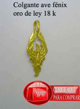ave fenix de oro colgante amuleto