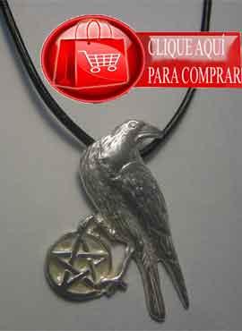 cuervo celta plata con pantáculo