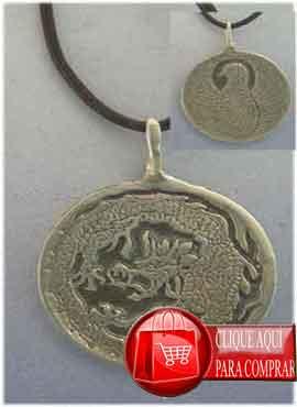 colgante fénix y dragón de plata de ley