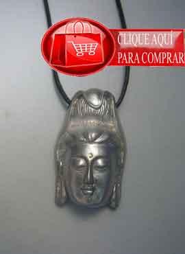 Guan Yin colgante de plata