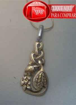 pájaro celta de Cliodhna amuleto de plata