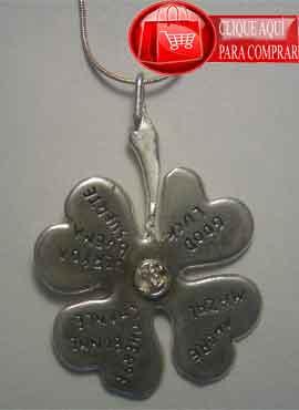 trébol de plata colgante amuleto celta