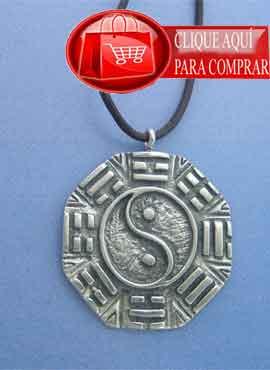 pa kua yin yang colgante de plata