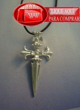 Cruz de Santiago colgante de plata