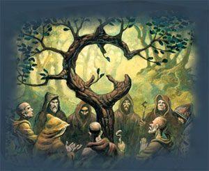 druidas en acto sagrado