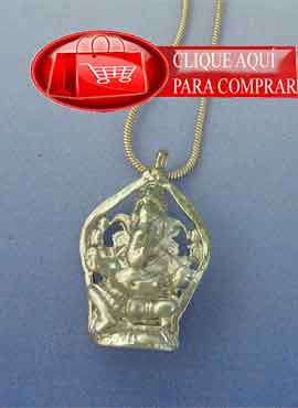 ganesha elefante dios hindú en plata de ley