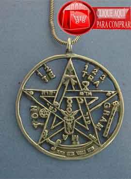 tetragramatón de plata colgante amuleto