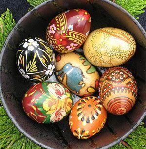 ostara fiesta celta, huevos de Pascua típicos