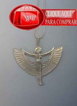 Isis alada símbolo de protección de la diosa. colgante de plata