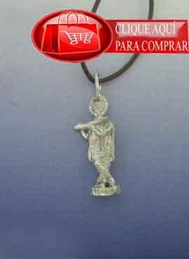 krishna colgante de plata