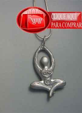 kundalini colgante de plata