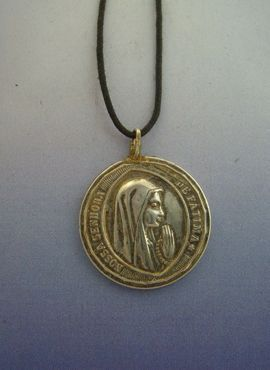 virgen de Fátima medalla de plata