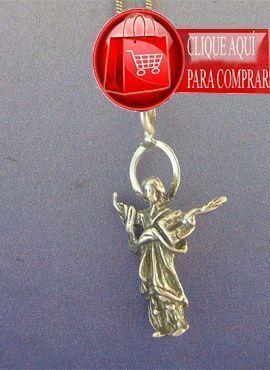 San Pancracio colgante de plata