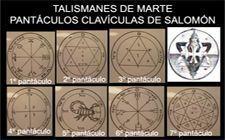 talismanes de Marte, pantáculos salomónicos