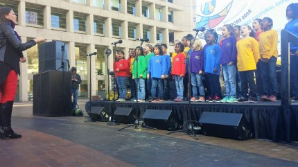 Boston's Children Chorus performs as a part of the Kick-Off Ceremony