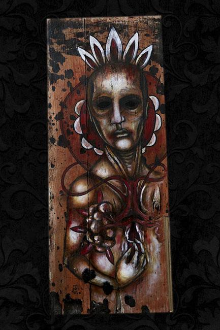 Sanctified - Oil on Wood