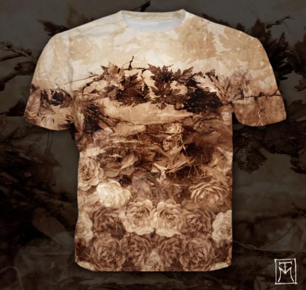Dark Romantic Cemetery T-shirt Design