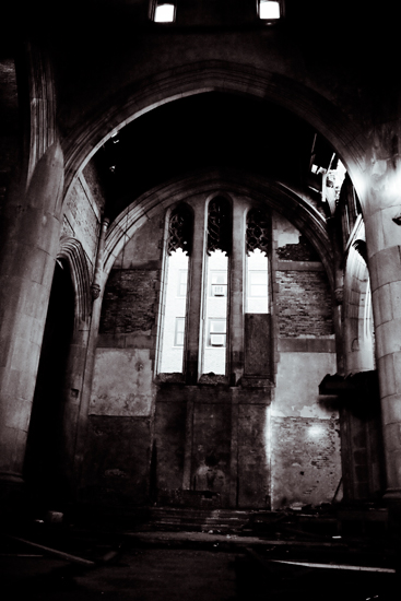 Abandoned City Methodist Church - Black and White Urbex Photography