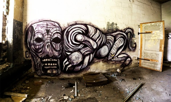 Solitary Creature - Berlin Dark Art Graffiti
