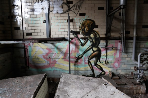 The Visitor - Dark Art Graffiti Character