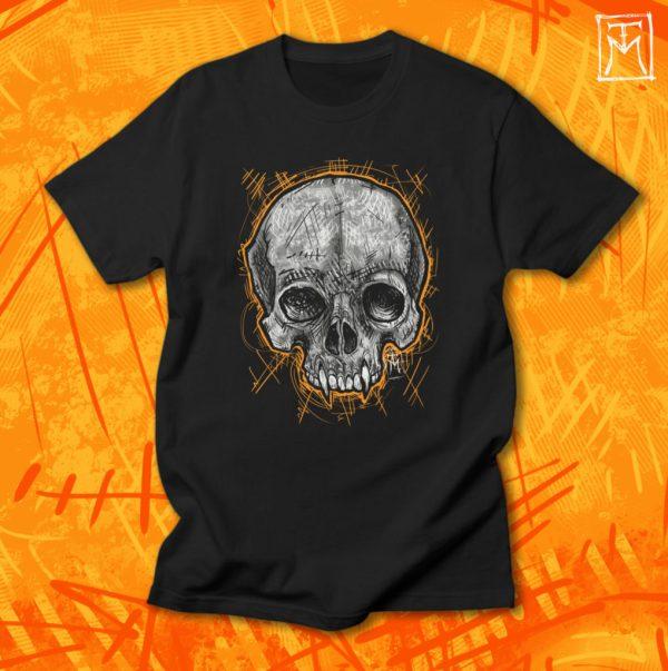 Vampire Skull Tshirt Illustration