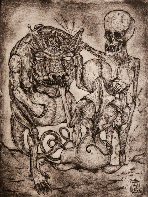 """""""The Dialogue"""" Etching"""