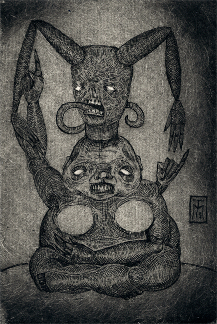 """Mutant"" Drypoint Etching"