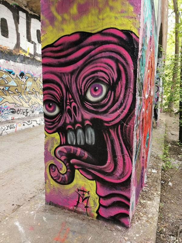 Pink Demon Mural