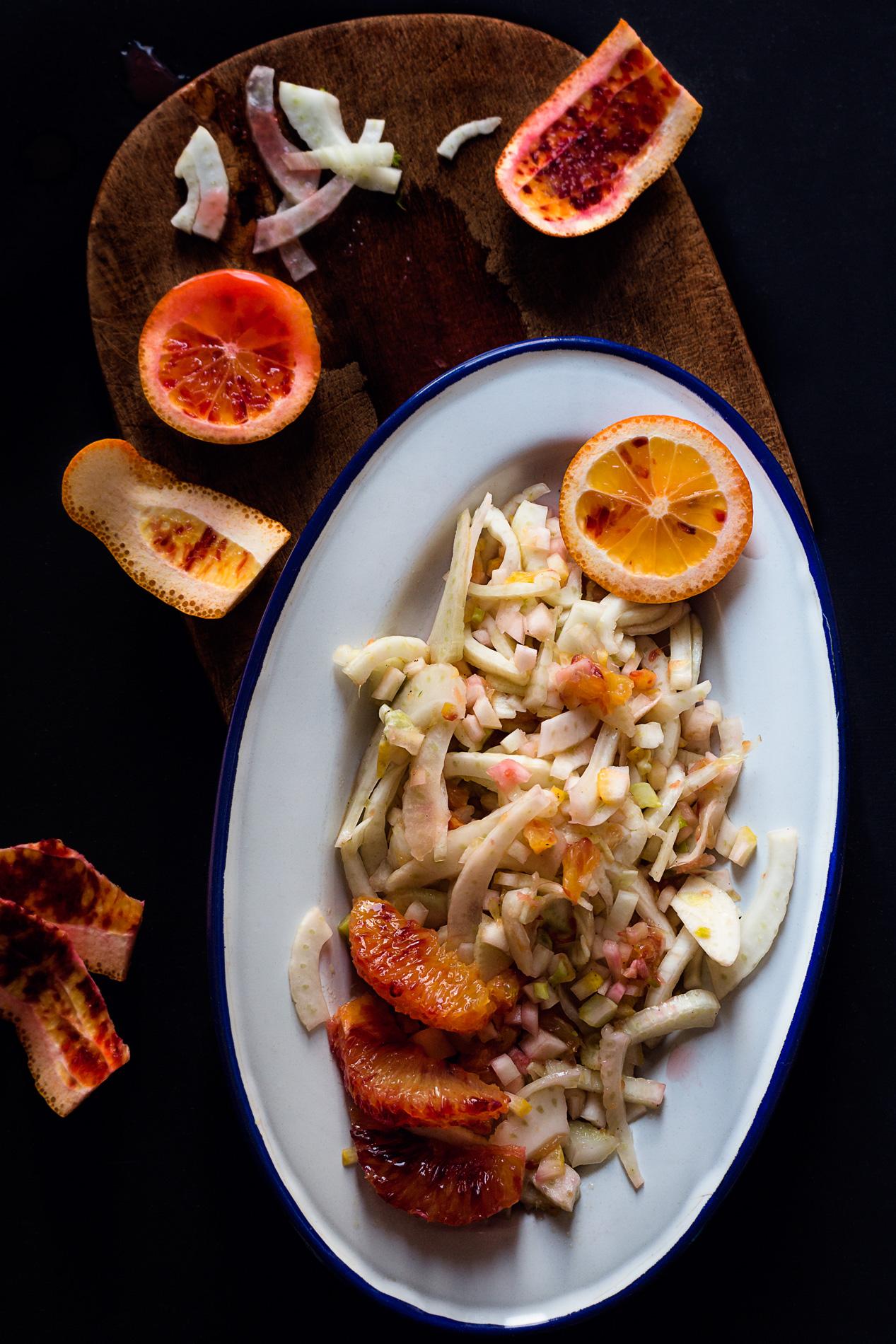 Cedro-Blutorangen-Fenchel-Salat