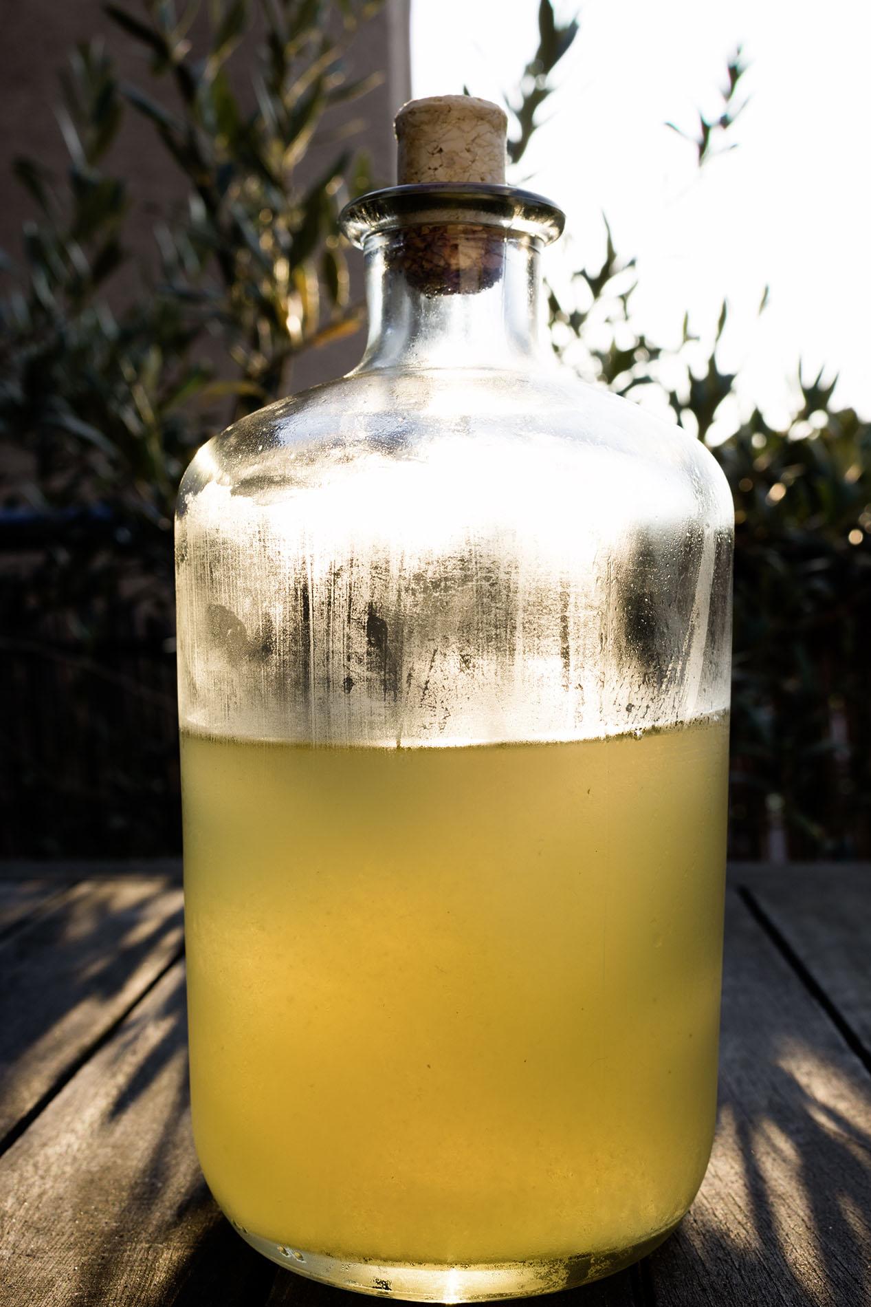 Brühe in der Flasche