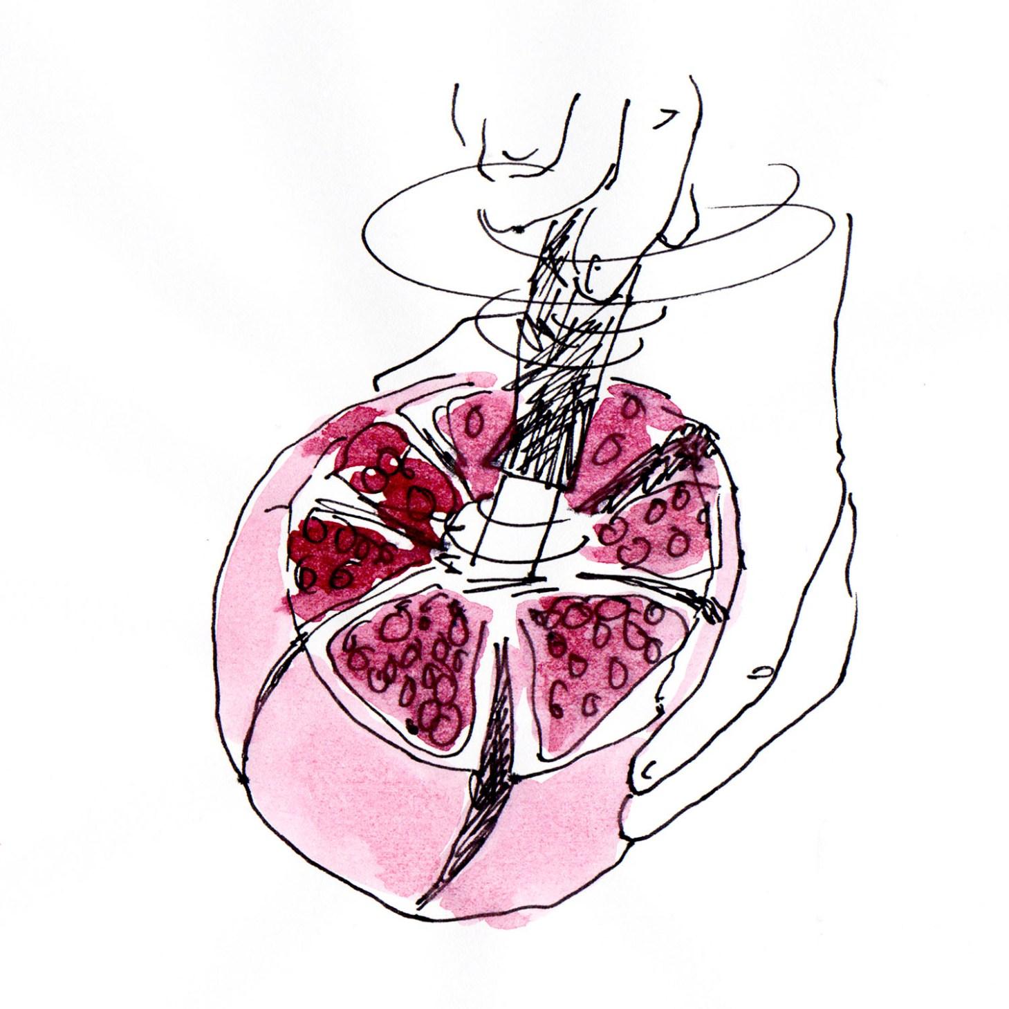 Granatapfel öffnen 5