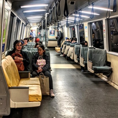 Wednesday, March 11, 2020 – BART Train. San Francisco, CA. Michael Mugmon