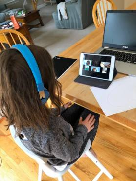 Tuesday, March 17, 2020 – Girl Scouts via Zoom. Bethesda, MD. Jenny Mosier